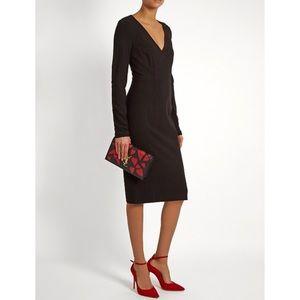 Diane Von Furstenberg Milena Black Sheath Dress